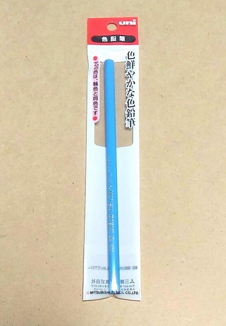 水色の色鉛筆で下書き625-3