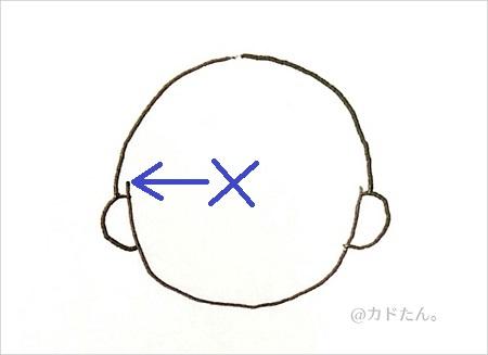 ボールペンイラストで描く基本の人の顔929-1