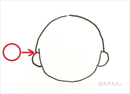 ボールペンイラストで描く基本の人の顔929-2