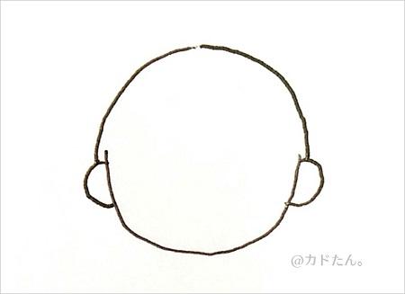 ボールペンイラストで描く基本の人の顔929-7