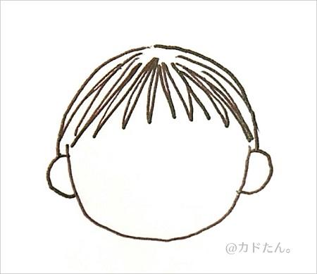 ボールペンイラストで描く基本の人の顔929-3