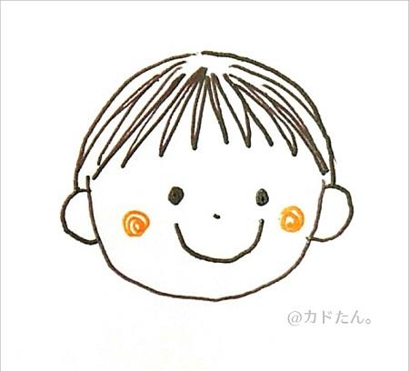 ボールペンイラストで描く基本の人の顔929-4